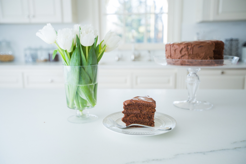 Beauitful Chocolate Layer Cakes by Fashionable Hostess