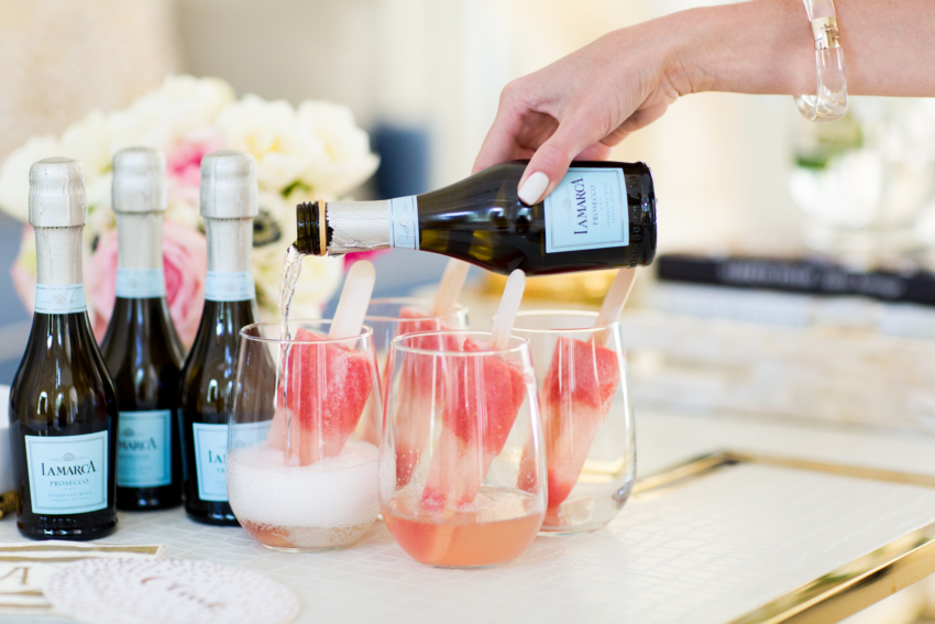 Champagne Popsicles by Fashionable Hostess