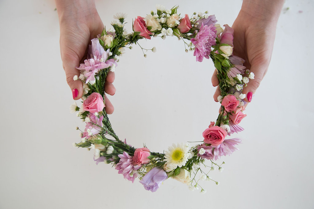 How to make a flower crown by Crowns by Christy - step 6