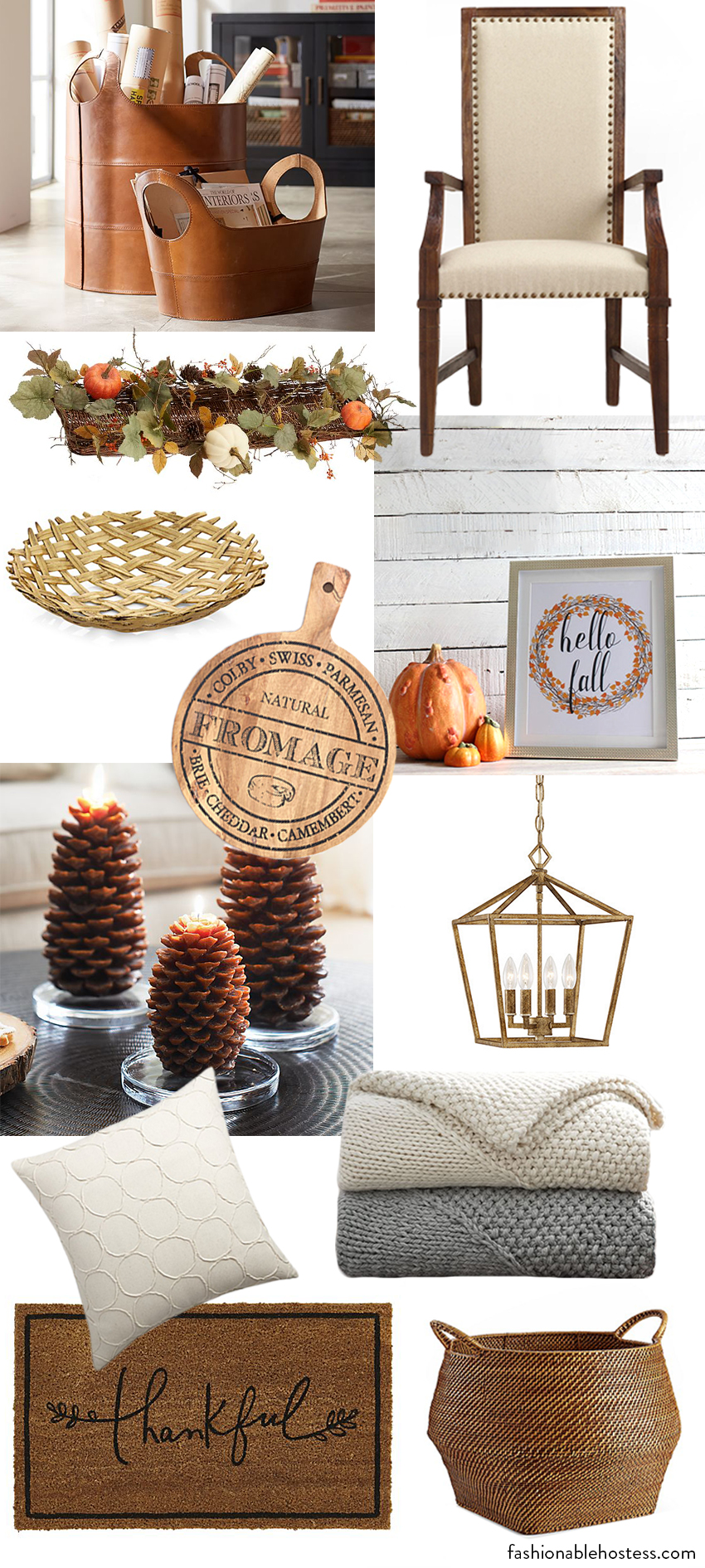 Fall Decor Shopping List by Fashionable Hostess