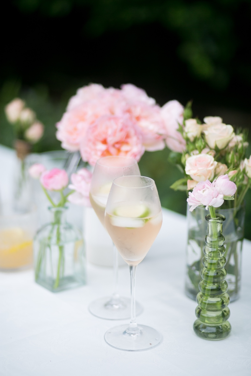 Prettiest Party Drinks by the Fashionable Hostess - St Germain and Rose Cocktail