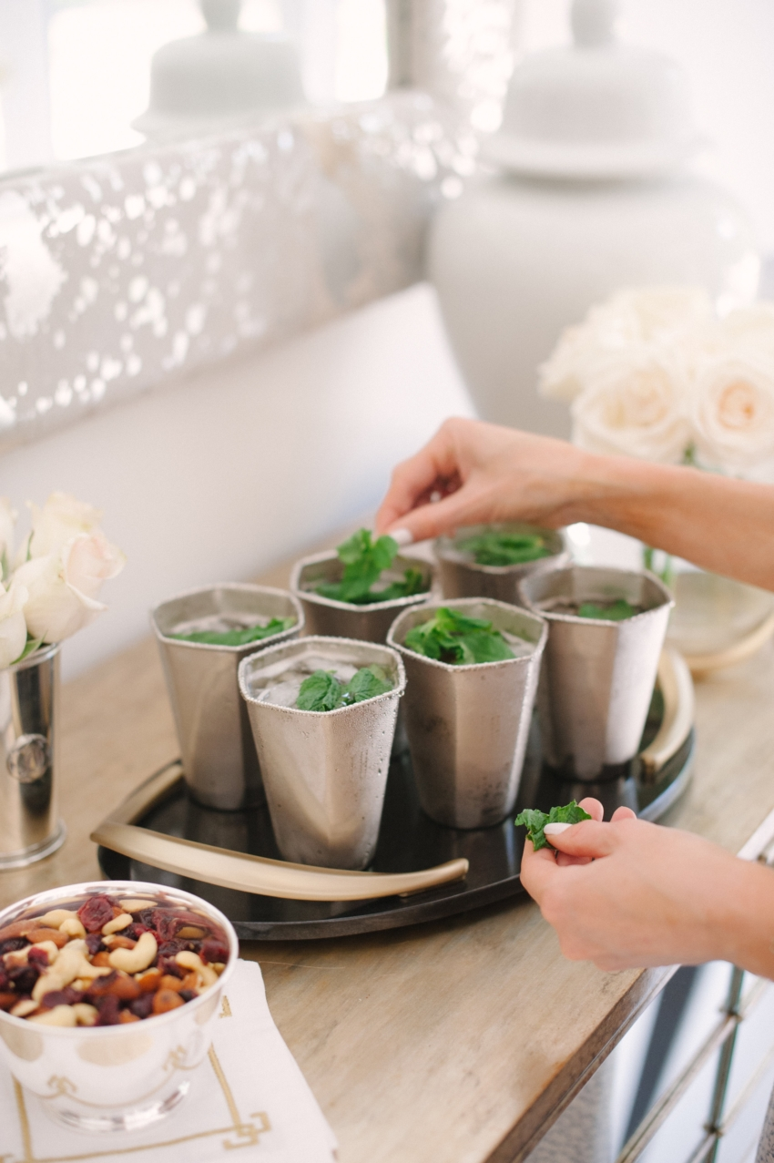 Prettiest Cocktails by the Fashionable Hostess- home made mojitos