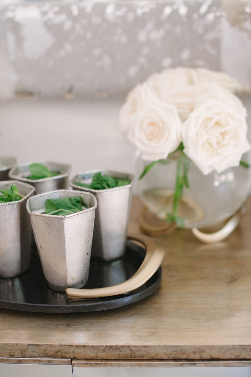 Prettiest Party Drinks by the Fashionable Hostess - mint julep cups
