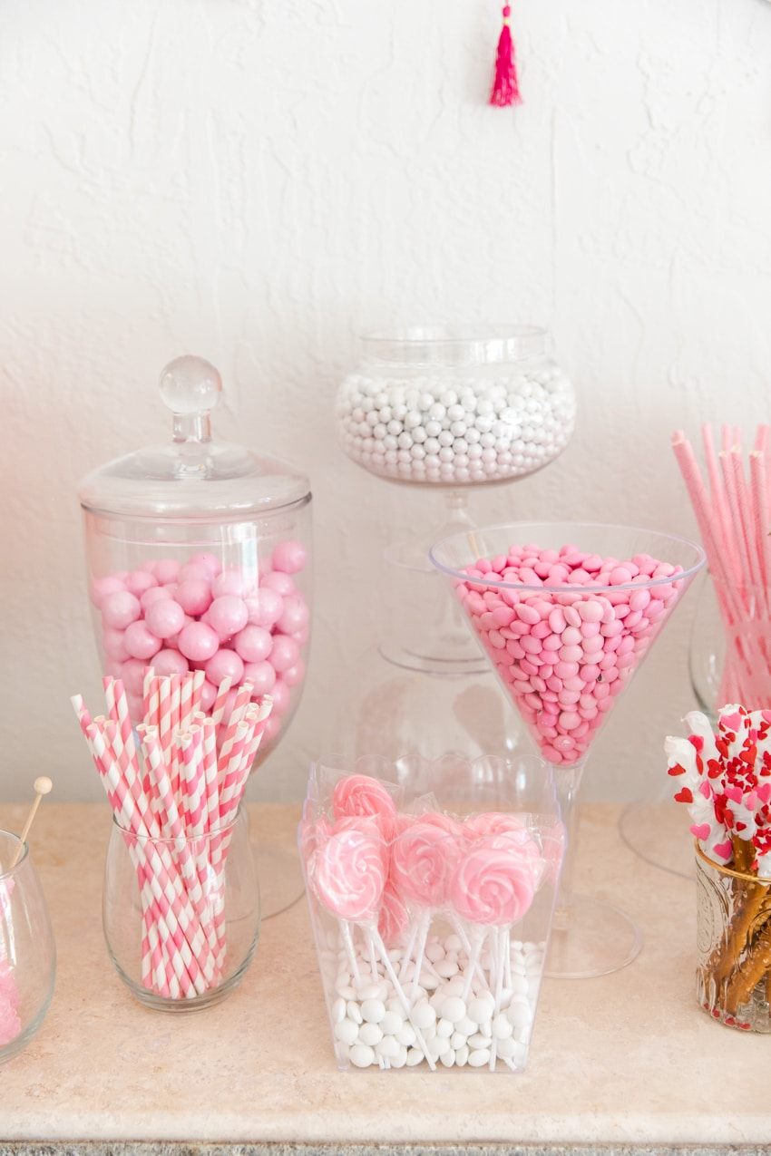 Perfectly Pink Candy Amp Dessert Buffet Fashionable Hostess