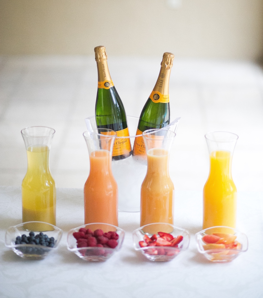 ELEGANT MIMOSA BAR FOR YOUR PARTY BY FASHIONABLE HOSTESS