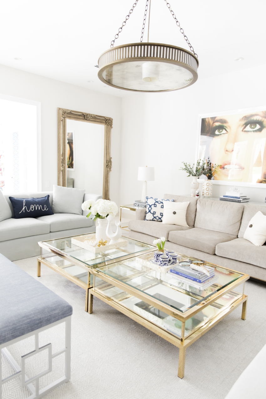 Image of: Living Room Updates For Spring With Pottery Barn Fashionable Hostess